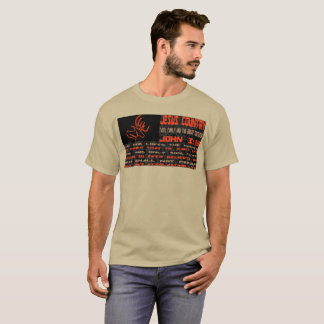 Jesus Country Hunter Orange Digital John 3:16 Flag T-Shirt
