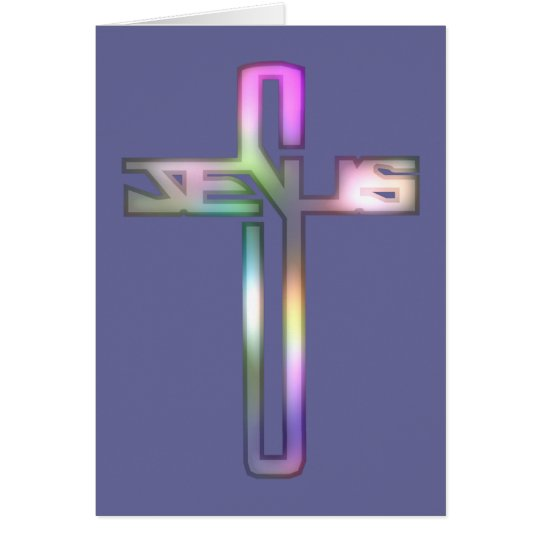 Jesus Cross Card