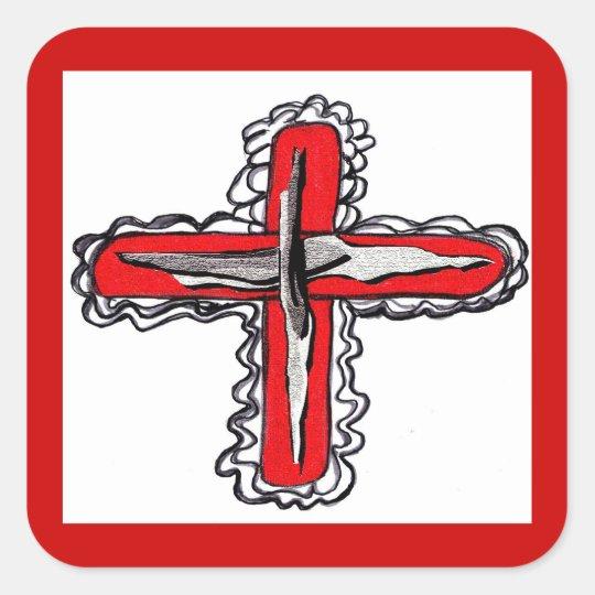 Jesus Cross Christian Sticker