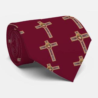 Jesus cross neck tie
