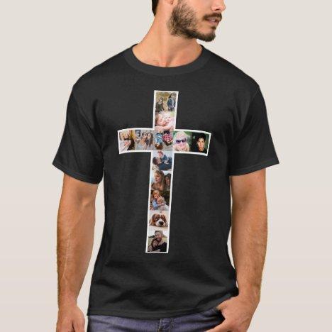 Jesus Cross Photo Collage T-Shirt