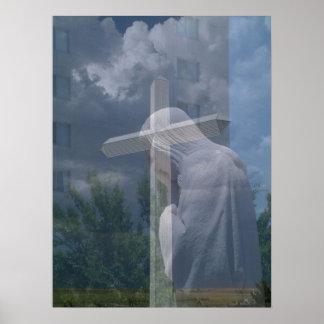 Jesus & Cross Print
