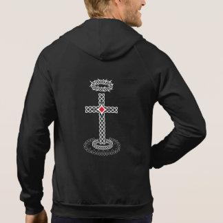 Jesus cross with crown of thorns hoodie