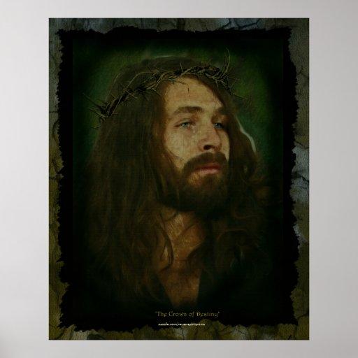 Jesus & Crown of Thorns Christian Art Poster
