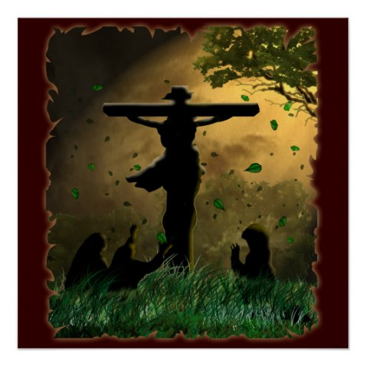 Jesus Crucifixion Poster