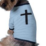 Jesús cruzado cristiano camisas de mascota