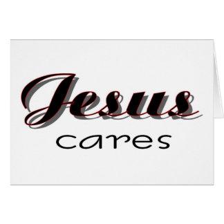 Jesús cuida decir cristiano felicitación