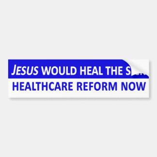 Jesús curaría a la pegatina para el parachoques en pegatina para auto