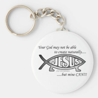 Jesus & Darwin Fish Keychain