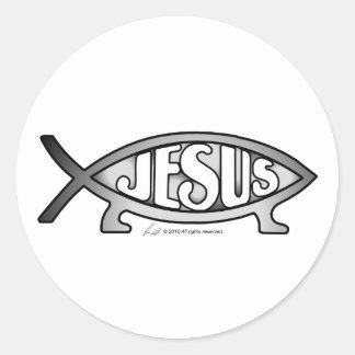 Jesus & Darwin Fish Stickers (solo)