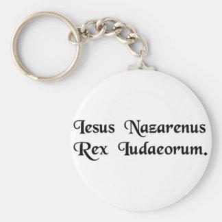 Jesús de Nazaret rey de los judíos Llavero Personalizado