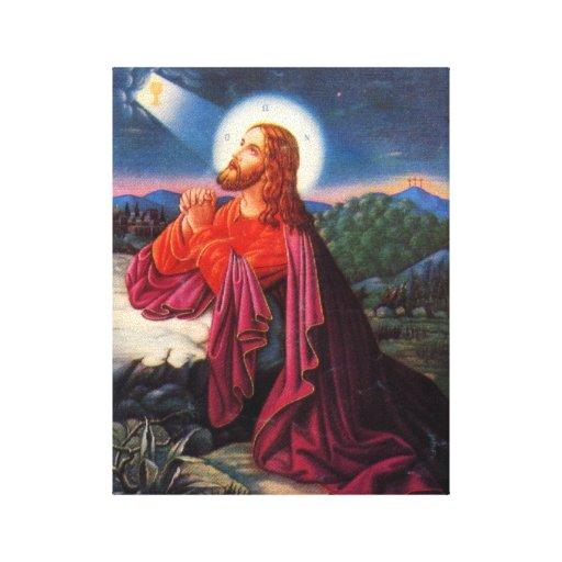Jesús de rogación impresiones de lienzo