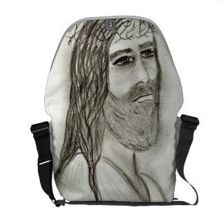 Jesús del lado bolsa messenger