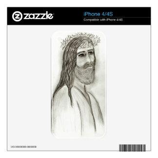 Jesús del lado calcomanías para iPhone 4