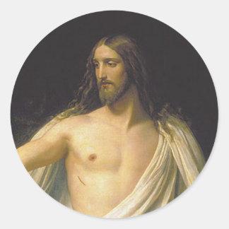 Jesús después del pegatina de la resurrección