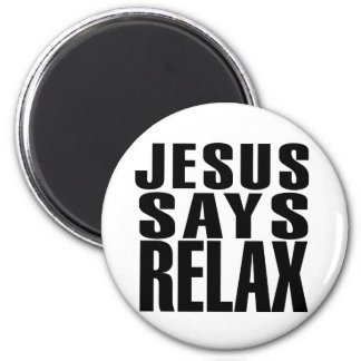 Jesús dice se relaja imán redondo 5 cm