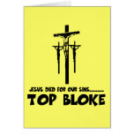 Jesus died for our sins greeting card