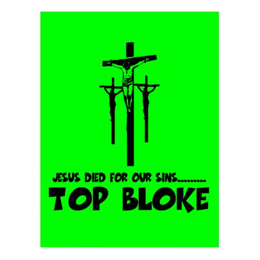 Jesus died for our sins postcard