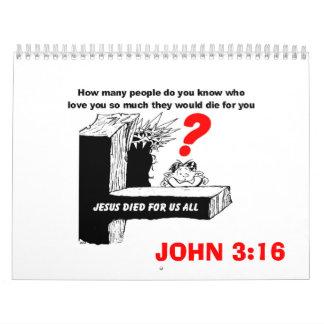 JESUS DIED FOR US ALL CALENDAR