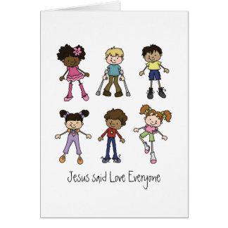 Jesús dijo amor cada uno tarjeta