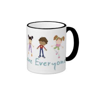"""""""Jesús dijo amor cada uno"""" taza"""