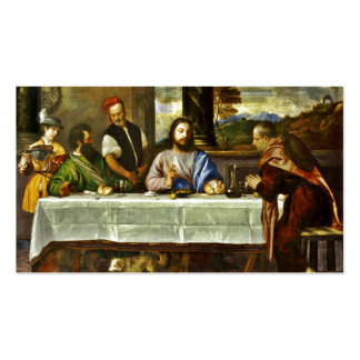 Jesus Dining at Emmaus Home Double-Sided Standard Business Cards (Pack Of 100)