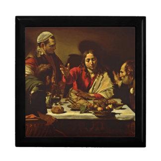 Jesus Dining in Emaus Keepsake Boxes