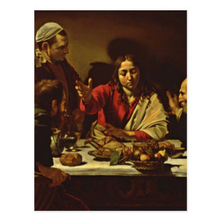 Jesus Dining in Emaus Postcard