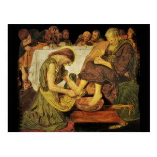 Jesus  Disciple's Feet Postcard