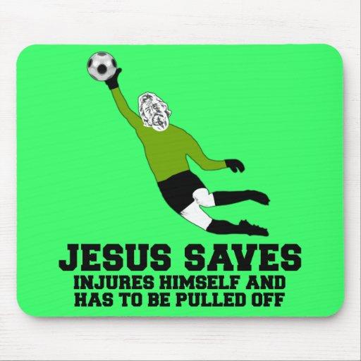 Jesús divertido ahorra alfombrilla de ratón