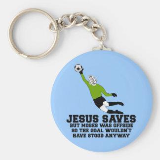 Jesús divertido ahorra llavero