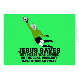 Jesús divertido ahorra tarjeta de felicitación