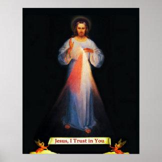 Jesus Divine Mercy Sr Faustina Poster