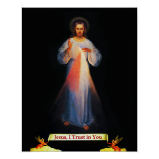 Jesus Divine Mercy St Faustina 02 Poster