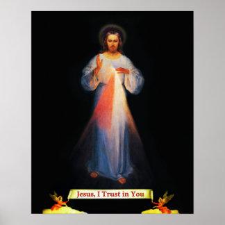 Jesus Divine Mercy St Faustina 02 Poster