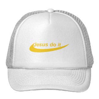 Jesus Do It Jaune Mesh Hats
