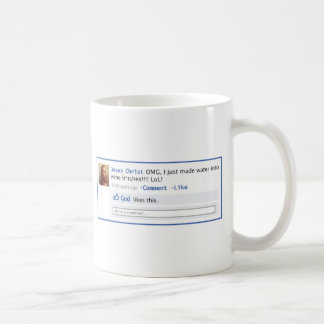 Jesus does Social Media Coffee Mug