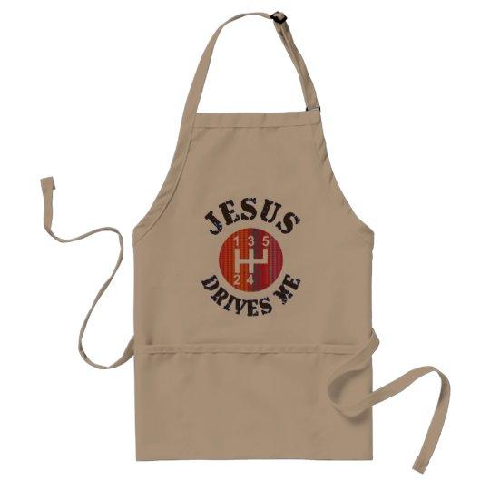 Jesus Drives Me Christian apron