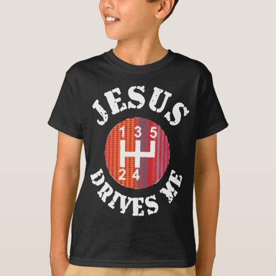 Jesus Drives Me Christian kids' t-shirt