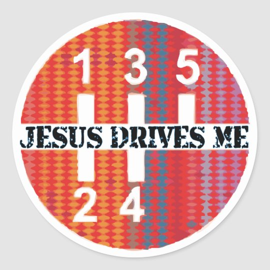 Jesus Drives Me Christian stickers