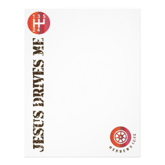 Jesus Drives Me letterhead paper