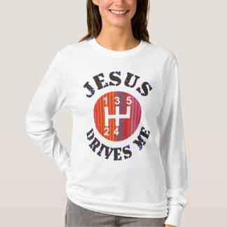 Jesus Drives Me women's Christian hoodie