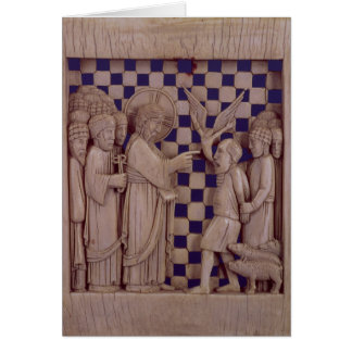 Jesus driving out the unclean spirit, relief card