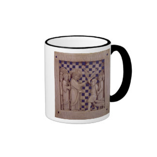Jesus driving out the unclean spirit, relief ringer mug