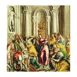 Jesus Driving the Merchants from the Temple Canvas Prints