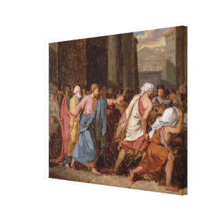 Jesus Driving the Merchants from the Temple Canvas Print