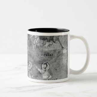 Jesus driving the merchants from the Temple Two-Tone Coffee Mug