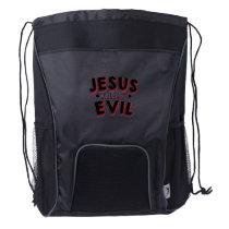 Jesus Easter April Fools Day Drawstring Backpack