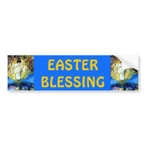 JESUS, EASTER BLESSINGS bumpersticker Bumper Sticker