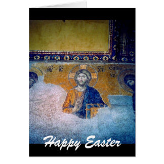 jesus easter mural greeting card